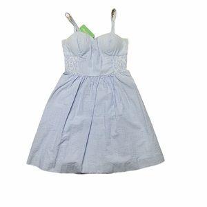 Lilly Pulitzer Christine Dress Blue Seersucker 0